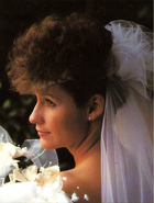 Beautiful head view of the bride