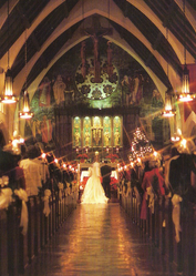 In the church after Wedding ceremony
